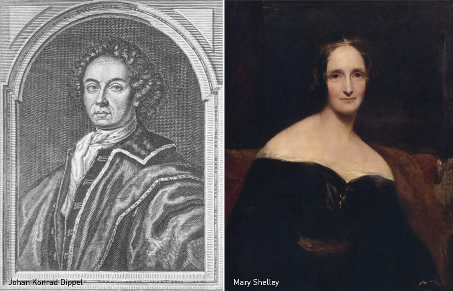 Johan Konrad Dippel, Mary Shelley, Kienyke