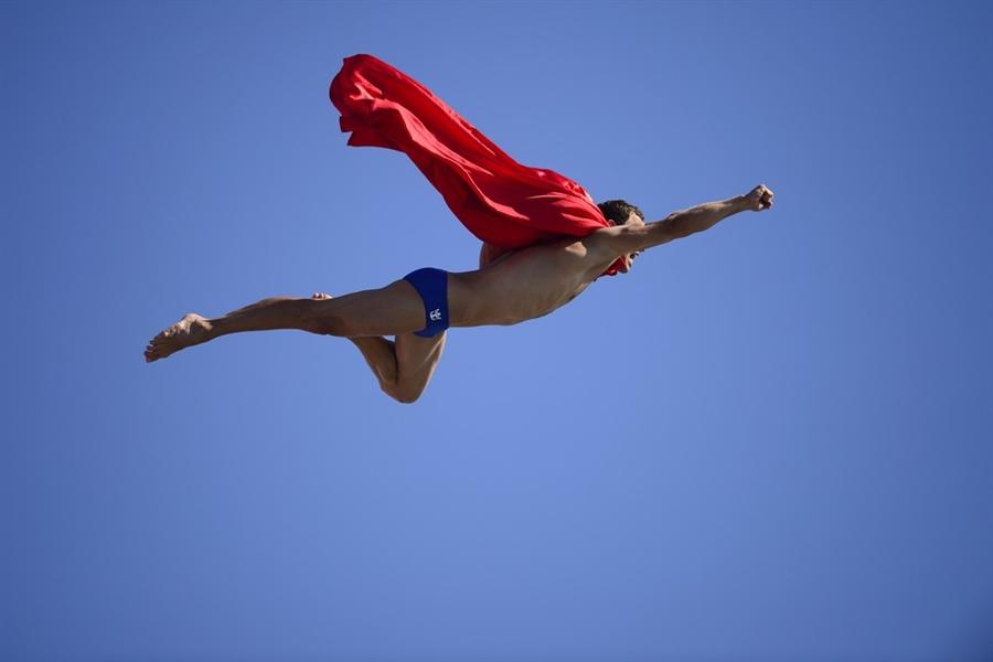 Orlando Duque le ganó la medalla a Superman