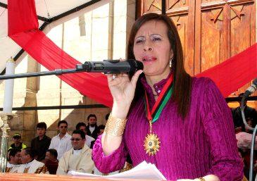 En helicóptero tuvo que llegar la alcaldesa de Duitama a su ciudad
