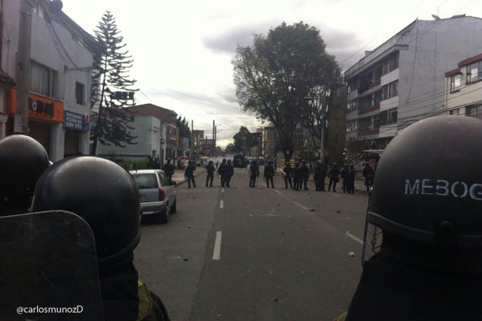 disturbios Universidad Pedagogica.kienyke
