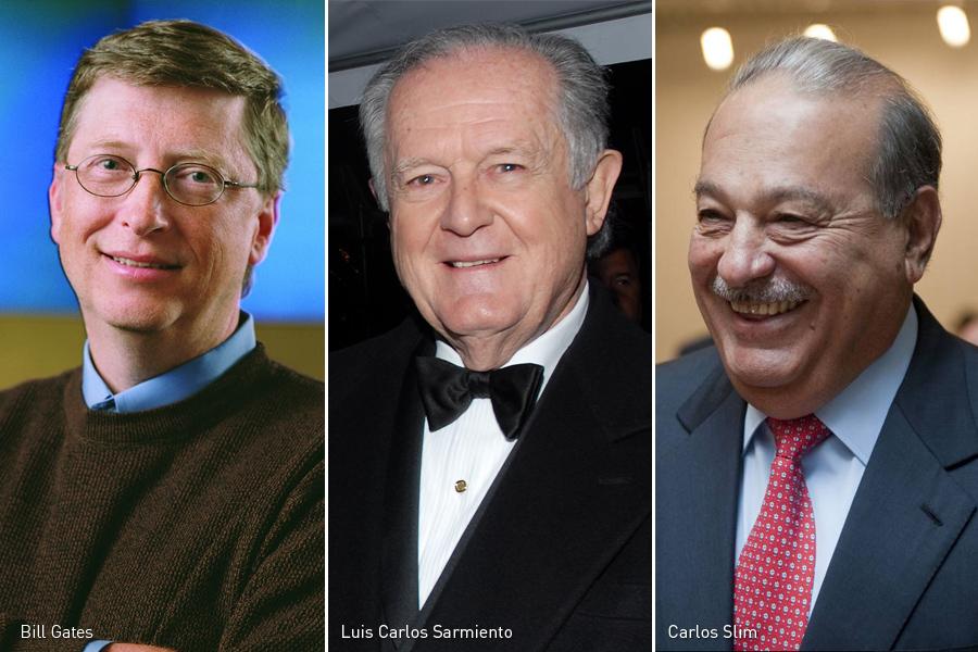 Bill Gates, Luis Carlos Sarmiento, Carlos Slim, Kienyke