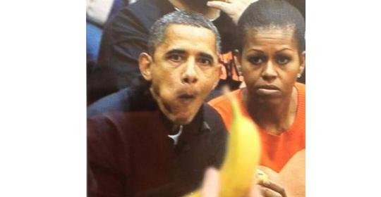 Califican de racista foto rusa sobre Obama