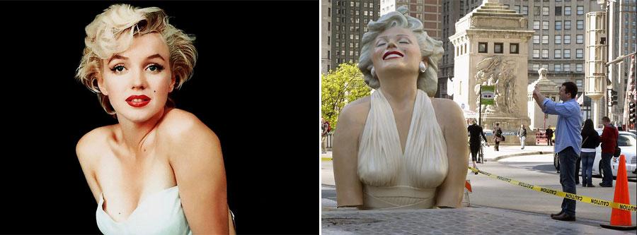 Marilyn Monroe, Estatua, Kienyke, California