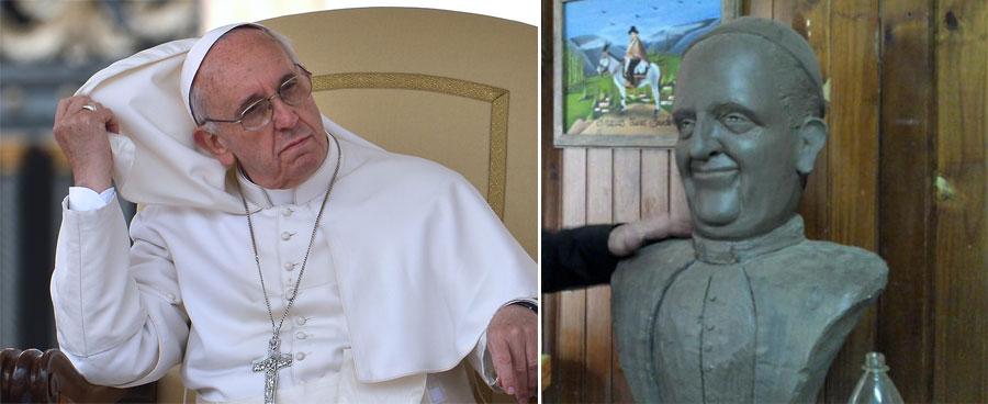 Papa Francisco, Busto, Argentina, Buenos Aires, Kienyke