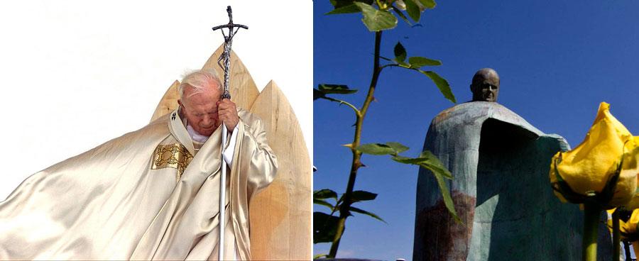 Papa Juan Pablo II, Estatua, Roma, Kienyke