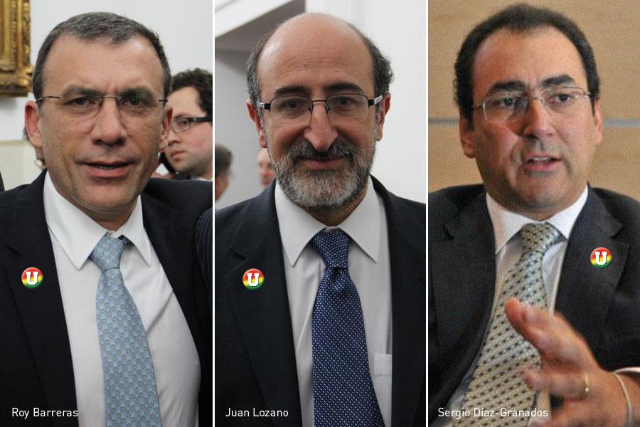 Roy Barreras, Juan Lozano, Sergio Díaz-Granados, Kienyke