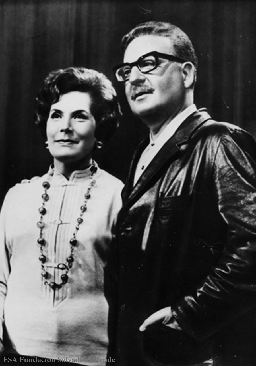 Salvador Allende y Hortensia Bussi