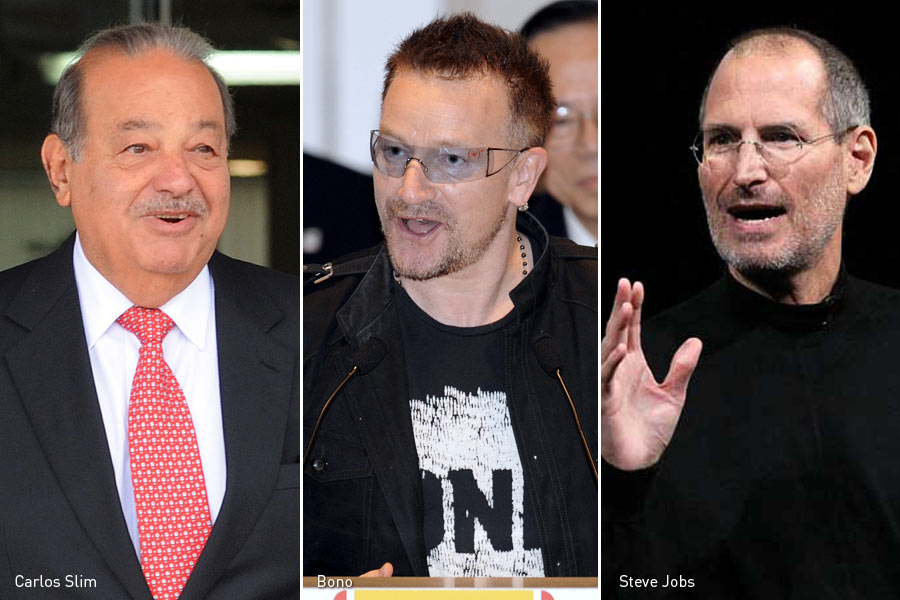 Carlos Slim, Bono, Steve Jobs, Kienyke