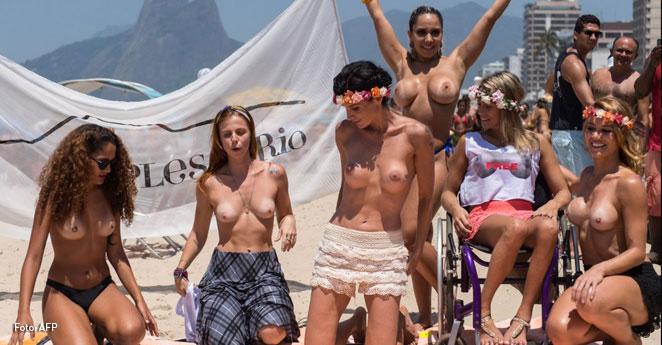 Mujeres en Brasil se hicieron sentir por derecho al topless
