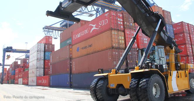 Puerto de Cartagena , importaciones, exportaciones