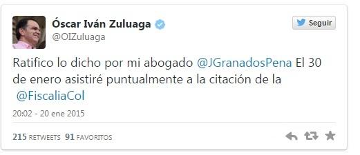 twitter Oscar Zuluaga