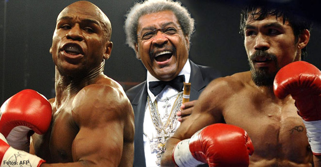 Don King, Floyd Mayweather, Manny Pacquiao
