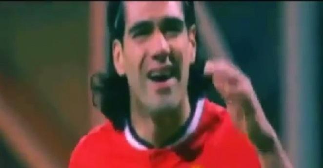 (VIDEO) La reacción de Falcao al ser reemplazado por Van Gaal