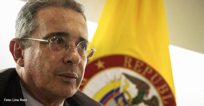 Alvaro uribe Vélez, ex presidente de Colombia