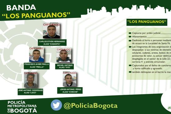 Banda delincuencial los panguanos