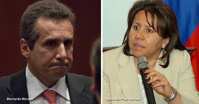 Bernardo Moreno y María del Pilar Hurtado