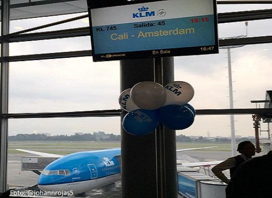Aerolínea KLM empezó a operar en Colombia