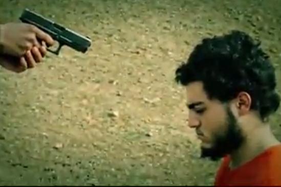 Palestino asesinado por Isis