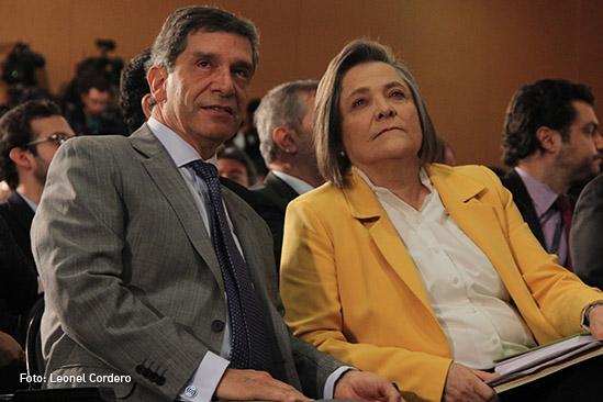 Rafael pardo y Clara Lopez