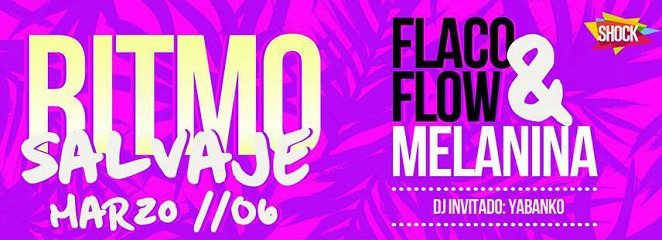 Fiesta con el ritmo salvaje de Flaco Flow y Melanina