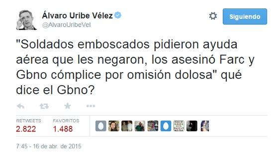 """Uribe: a María del Pilar Hurtado la """"torturan"""" para que me acuse"""