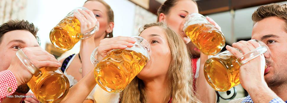 ¿Cuánto engorda una cerveza o una copa de vino?