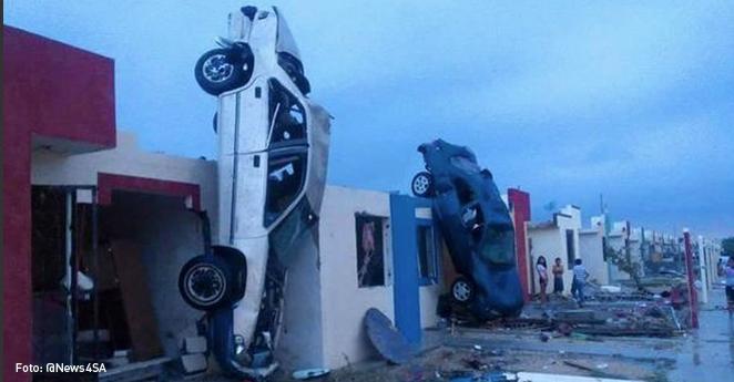 El paso de un tornado en ciudad del norte de México deja 11 muertos