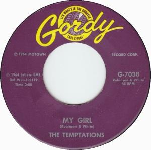 My Girl - Etiqueta del sencillo
