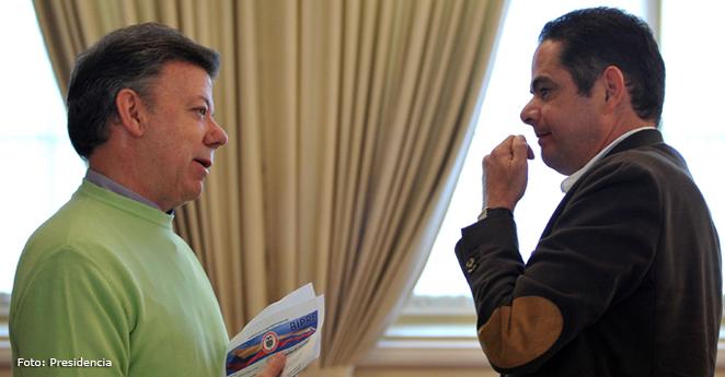 Juan Manuel Santos y Germán Vargas