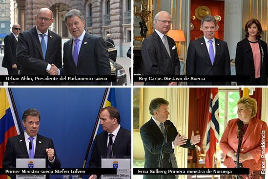 Gira Presidente Santos en Europa