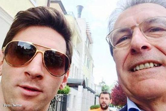 Giuliano Poser y Messi