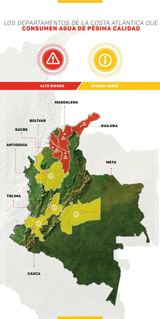 Zonas de riesgo Colombia