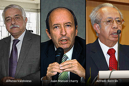 Alfonso Valdivieso Juan Manuel charry y Alfredo beltran