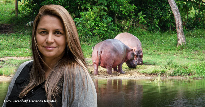 La mujer que habla con los hipopótamos de Pablo Escobar