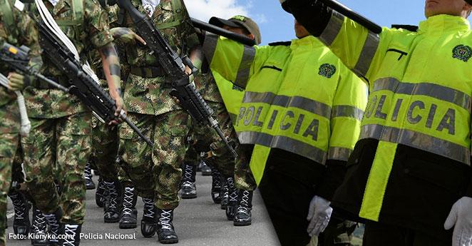 Militares y policias