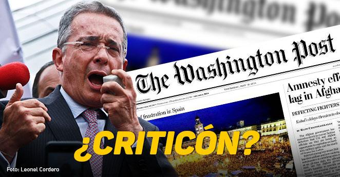 El Post reseña la cruzada de Uribe contra la paz