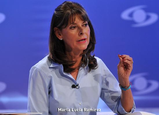 Marta Lucia Ramírez, exministtra de defensa