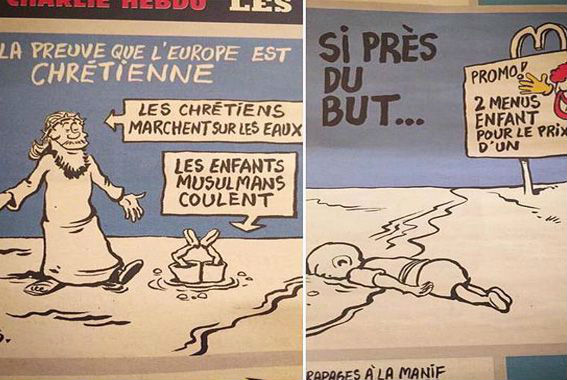 ¿Charlie Hebdo se burló de la muerte del niño sirio Aylan Kurdi?