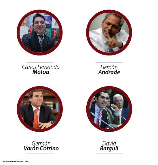 Carlos Fernando Motoa; Hernán Andrade; Germán Varón Cotrino; David Barguil