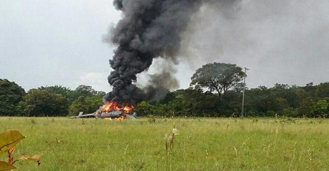 Segundo helicóptero en accidentarse este año en el país deja 3 muertos