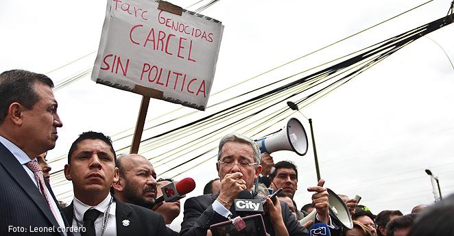 Alvaro Uribe mensaje FARC