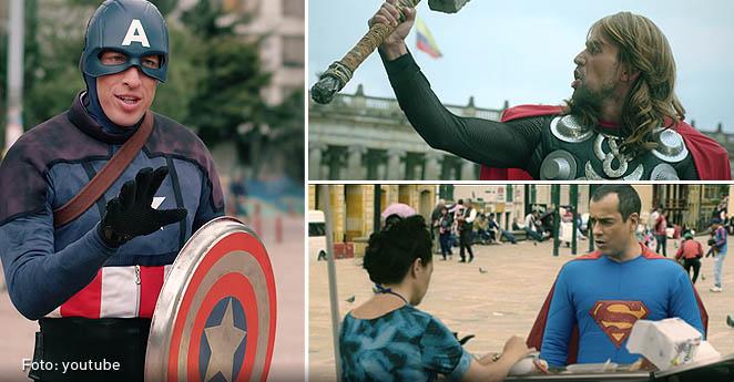 Superman, Thor y el Capitán América se toman Bogotá