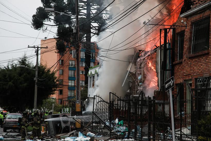 Explosión en laboratorio químico en Teusaquillo dejó 27 heridos