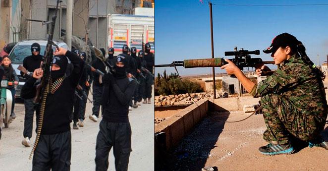 """Mujeres que se enfrentan a Isis advierten: """"les sacaremos los ojos"""""""