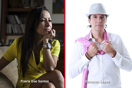 Flavia Dos Santos y Ezequiel Lopez