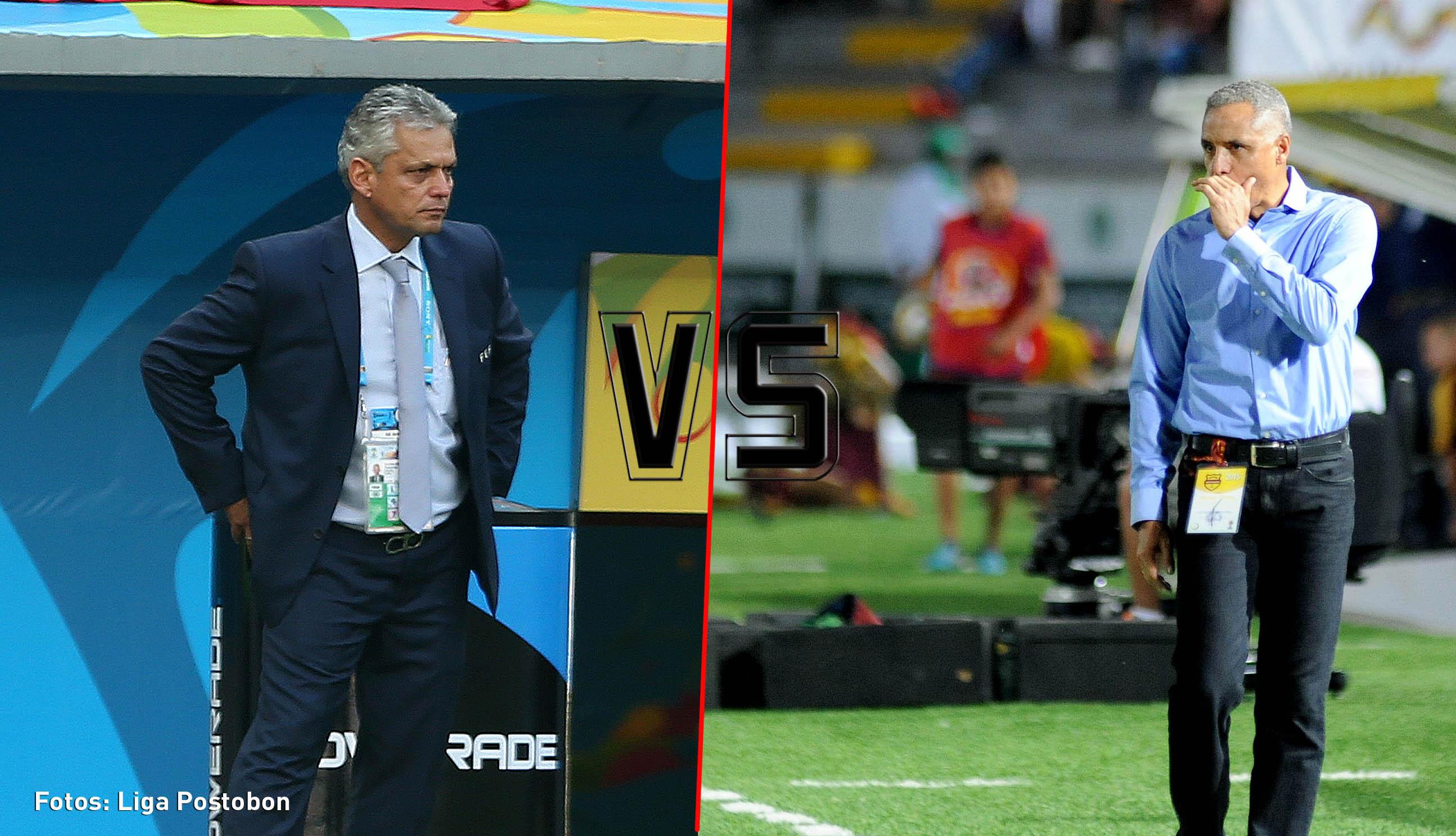 Reinaldo Rueda y Alexis Mendoza directores tecnicos de futbol