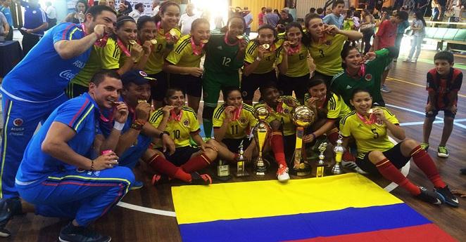 Selección colombiana femenina de futsal ganó Copa América