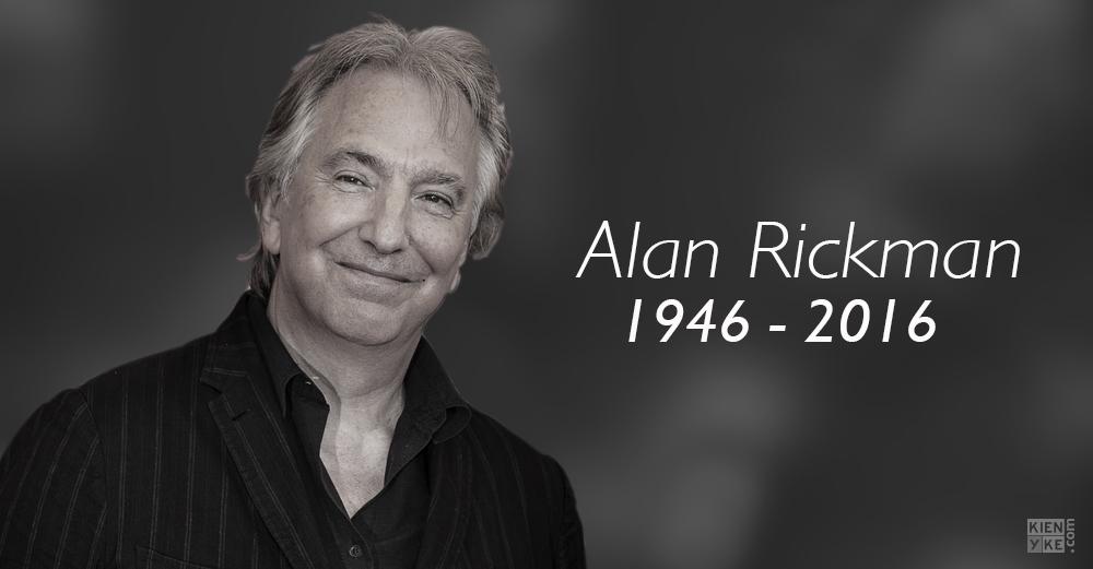 Murió Alan Rickman, actor que interpretó a Severus Snape en 'Harry Potter'
