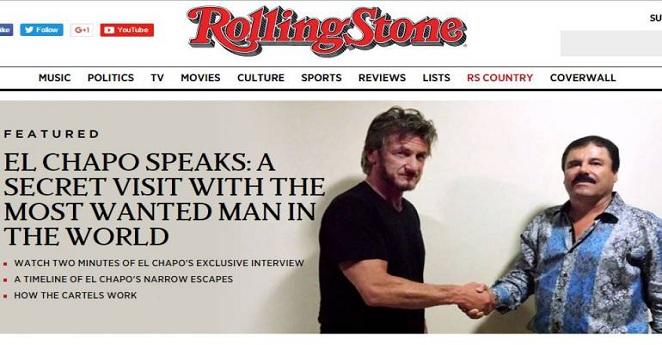 Entrevista de Sean Penn al 'Chapo' en la selva ayudó a dar con su paradero