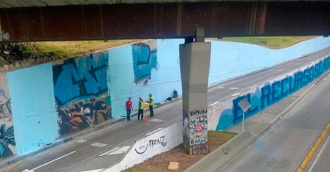 Grafitis de la calle 26 no están siendo borrados